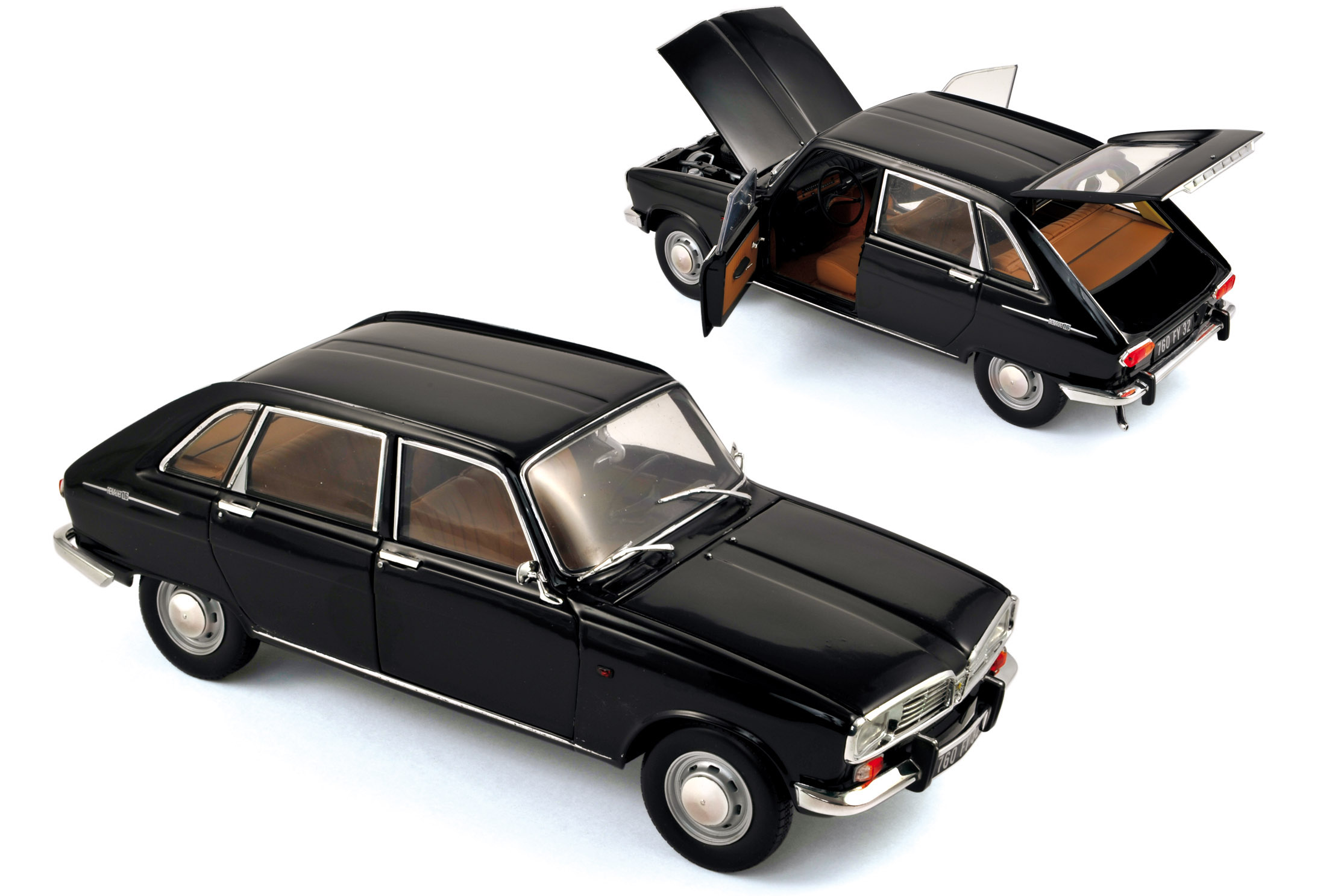 renault 16 1968 noire 1 18 norev 185129. Black Bedroom Furniture Sets. Home Design Ideas