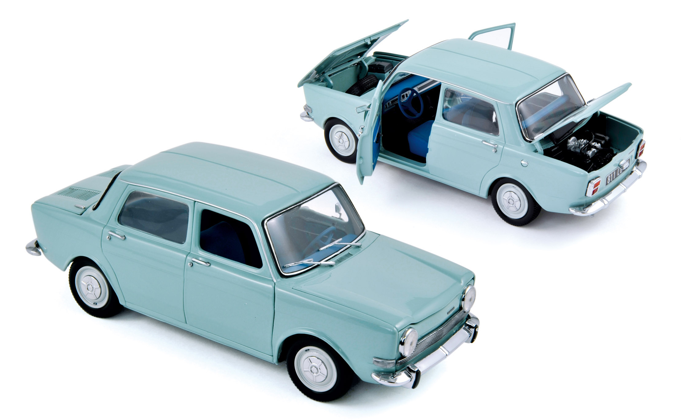 simca 1000 ls 1974 artic blue 1 18 norev 185712. Black Bedroom Furniture Sets. Home Design Ideas