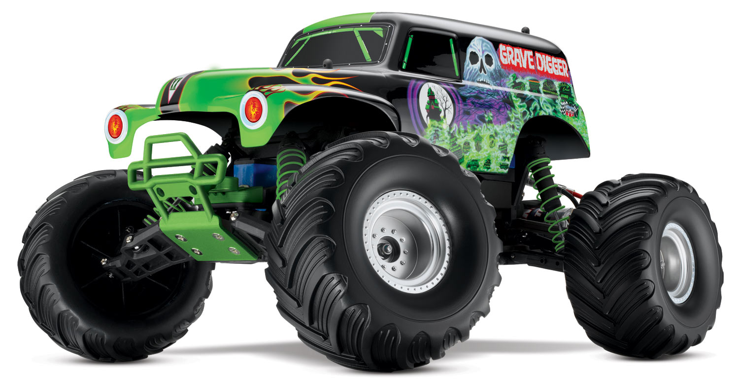 grave digger  4x2  110 brushed  traxxas