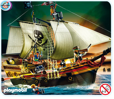 bateau d 39 attaque des pirates playmobil 5135. Black Bedroom Furniture Sets. Home Design Ideas