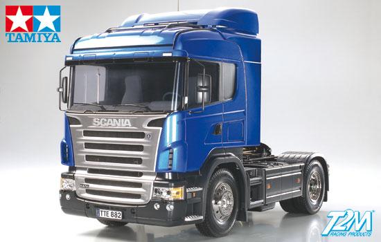 scania r highline camion electrique tamiya radiocommande