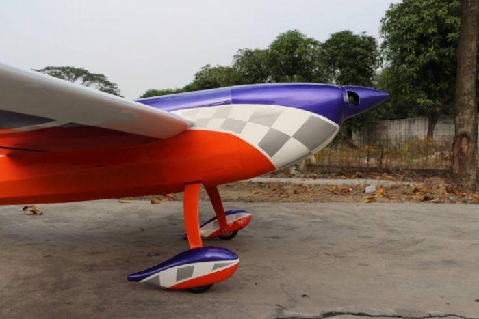 Extra 330SC Pilot RC 2 34m - Purple/Orange/Argent checker 50 - 70cm3