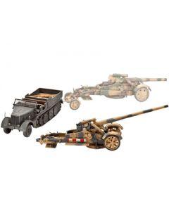 Pack 21cm Mörser 18 or 17cm Kanone 18 & Sd.Kfz.9 FAMO REVELL - 03188