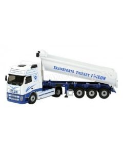 """VOLVO FH RESTYLE BENNE """"TRANSPORTS THIERRY PIGEON"""" - 1/43 - Eligor - 114448"""