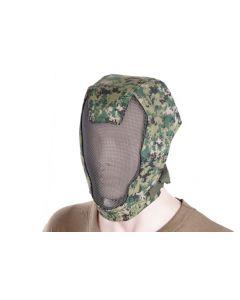 Extreme Metal Mesh Face Mask Digital Woodland - TMC0951 - Tactical Gear TMC