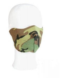 Masque de Protection bas du visage néoprène woodland