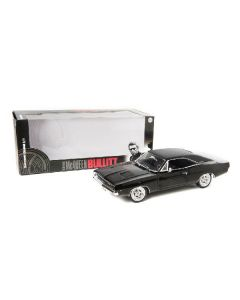 DODGE CHARGER BULLITT STEVE MC QUEEN 1968 NOIR COMPLET 1/18 GREENLIGHT