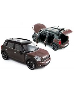 Mini Cooper S Countryman 2010 light cofee / black - 1/18 - Norev - 183104