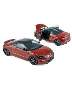 Peugeot RCZ-R 2013 Rouge avec toit noir mat - Norev - 184786
