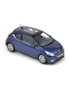 Peugeot 208 2012 3 portes virtual blue 1/43 NOREV