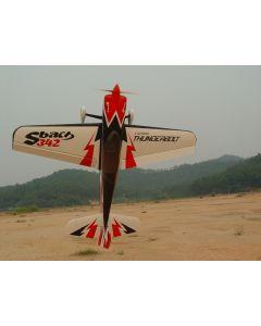 """Sbach 342  Pilot RC 87""""(29%) 2,2m - Noir/Rouge/Blanc - 50cc"""