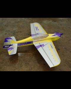 """Sbach 342 Pilot RC 87""""(29%) 2,2m Jaune/Violet - 50cc"""