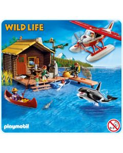 La Cabane du pêcheur avec hydravion et orque - Playmobil - 5039