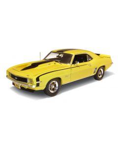 1 18 Scale 1969 Baldwin Motion Camaro Daytona Yellow w Black Stripes