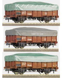 Wagon de marchandise Pack 3