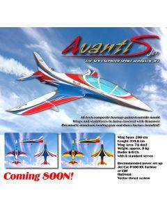Avanti S Jet ARF Bleu / Rouge  - train d'atterrissage installé -Sebart - by Sebastiano Silvestri