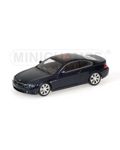 BMW 6-SERIES COUPE DARK BLUE METALLIC WITH ENGINE 2006 L.E. 1008