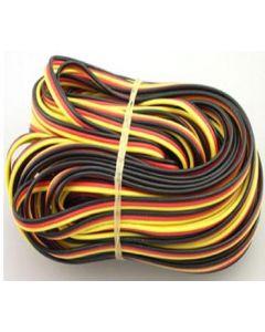 Cable servo plat 22AWG, 16mètres, Hitec ou JR
