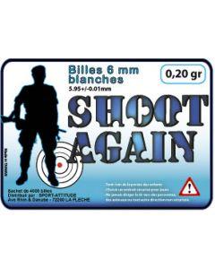 Sachet de 4000 billes Shoot Again 0.20gr