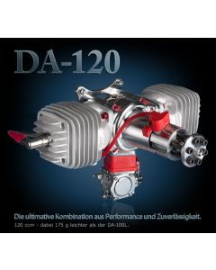 Moteur Desert Aircraft DA 120 - Moteur essence 2 temps 120 cm3