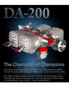 Moteur Desert Aircraft DA 200 - Moteur essence 2 temps 200 cm3