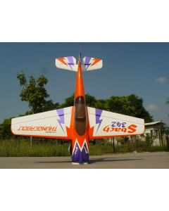 "Sbach 342  Pilot RC 87""(29%) 2,2m - 50cc - orange, blanc, violet"