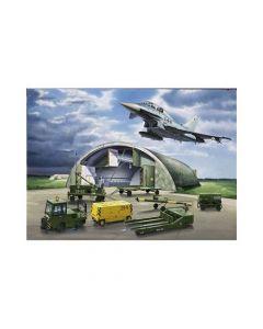 Diorama Set Eurfighter Typhoon et Shelter/Groundplate et Ground