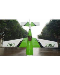 """Edge 540 Pilot RC 122"""" (42%) 3.10m - Vert / Blanc / aRGENT - 150 - 170cc"""