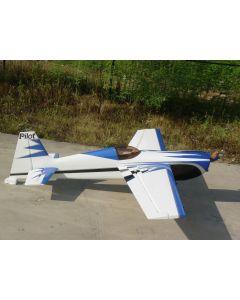 Edge 540 Pilot RC (30%) 2.20m - Bleu / Argent / Blanc - 50cc