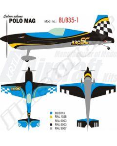 Extra 330SC Krill Model (35%) 2.60m - Polo Mag BL/B5-1 - 80 à 120cm3
