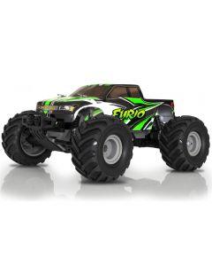 Desert truggy 1/12 Funtek DT12 Vert RTR : voiture électrique radicommandée fourni avec radio, batterie et chargeur.