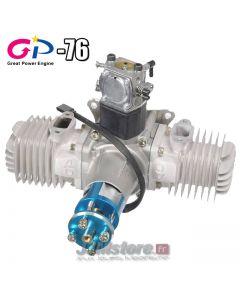 GP76 - Moteur essence 2 temps Bi-Cylindre