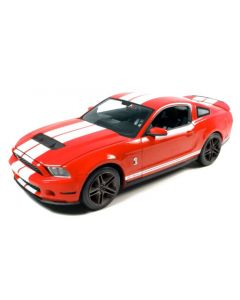 FORD SHELBY GT 2010 ROUGE BANDE BLANCHE 1/43 GREENLIGHT