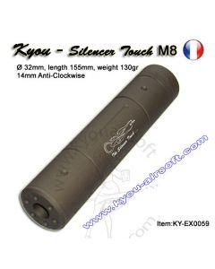 Kyou - Silencieux M8 TAN - D32mm - 155mm - 14(-)mm