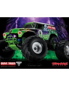 GRAVE DIGGER 4x2 - 1/16 BRUSHED - TRAXXAS