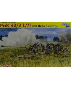 Pak 43/3 L/71 mit Behelfslafette