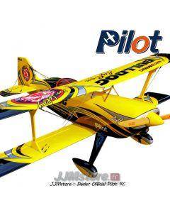 "Pitts Challenger Jaune Pilot RC 73"" 1.85m"