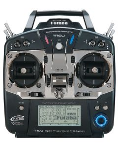 Radio commande 10J Futaba avec récepteur R3008GS - 2,4Ghz - avec chargeur