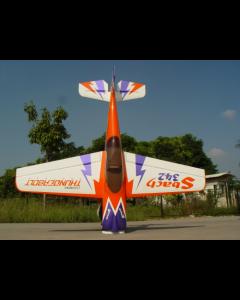 Sbach 342 Pilot RC - 73'' (26%) 1,85m - Orange/Blanc/Violet - 30 à 35 cc