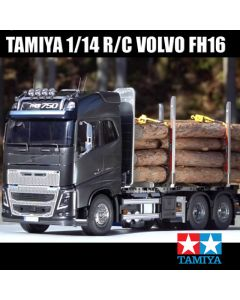 TAMIYA 1/14 R/C VOLVO FH16 GLOBETROTTER 750 6x4 TIMBER TRUCK