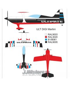 Ultimate 300KS Krill Model (39%) 2.33m - 120cm3 : Version Martini