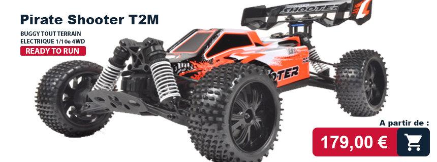 Pirate shooter T2M : voiture rc électrique RTR
