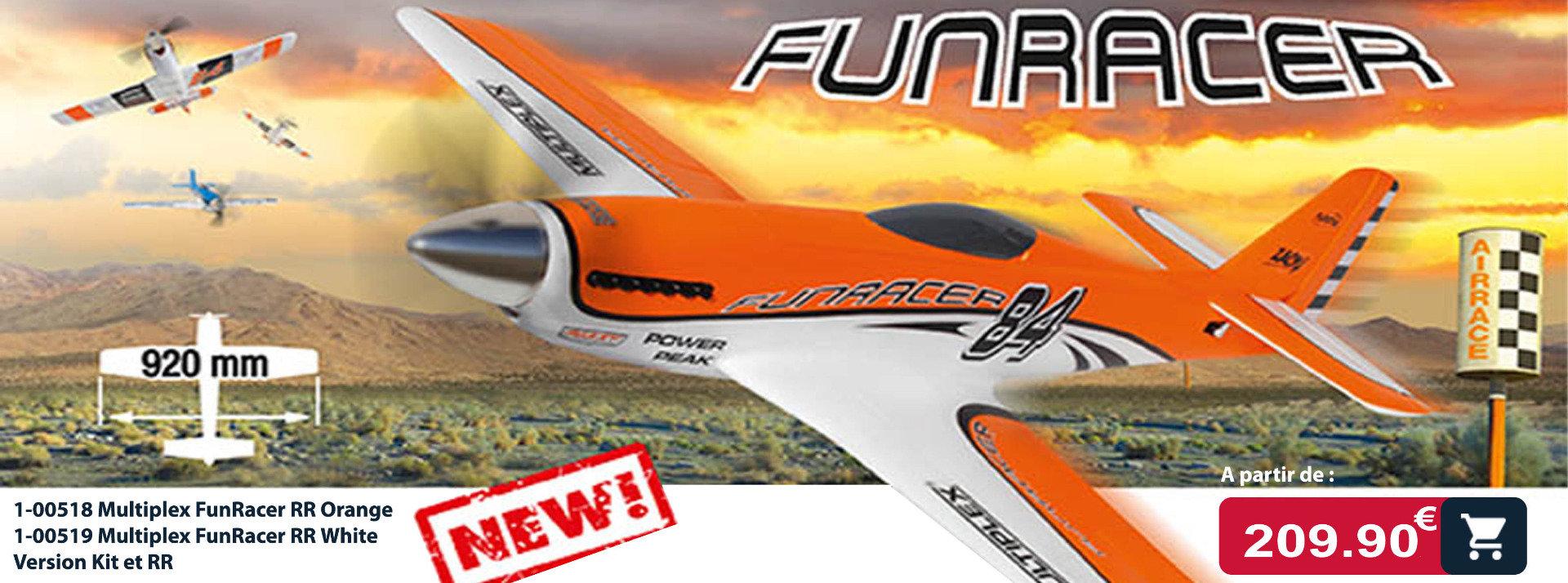 funracer racer Multiplex : avion de voltige électrqiue modélisme