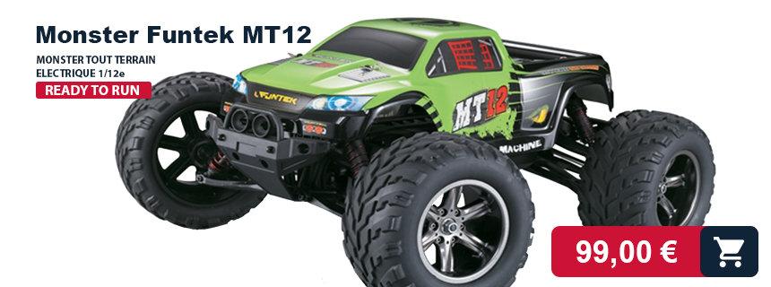 MT12 Funtek : monster truck électrique radiocommandé RTR
